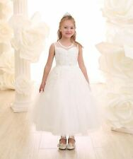 New First Communion Flower Girl Wedding Pageant Dress 2 4 6 8 10 12 14 16 Ivory