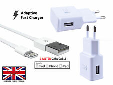Fast EU Wall Charger Apple Sync USB Data Cable - iPhone 7 6 6s 5 Plus iPad iPod