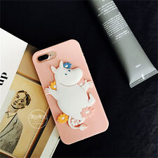 Hot Cute Moomin mirror cartoon Silicone Soft case Cover for iPhone 7 6S Plus