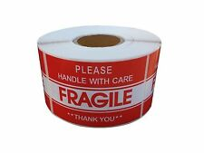 """FRAGILE STICKER 2""""x3"""" FRAGILE HANDLE WITH CARE STICKER & SHIPPING LABEL USA SELL"""