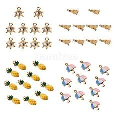 10Pcs Mixed Shaped Charm Pendants for Necklace DIY Jewelry Making Craft 4Styles