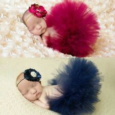 Newborn Baby Girl princess Costume Tutu Skirt&Flower Headband Photo Props Outfit