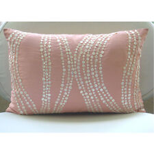 Mother Of Pearls Pink Art Silk 30x50 cm Lumbar Cushion Cover - Angelic Soft
