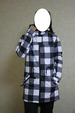 long checked snow jacket unisex women men all size skiing snowboarding