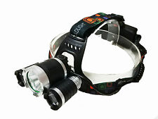 3000 Lumen CREE XM-L T6 LED Camping Headlamp Best Hiking Hunting Headlight Torch