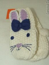 GYMBOREE bunny mittens 12 18 24 months or 2T/3T NEW NWT knit EASTER