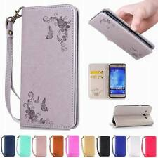 Card Holder Leather Flip Wallet Case Cover Stand Floral For Various Phones