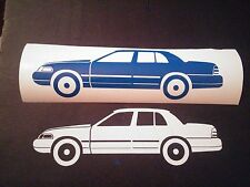 2x Ford Crown Victoria Vinyl sticker P71 Crown Victoria Vic lx Police