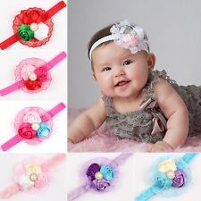 Hairband with flowers Roses Lace Pearl Baby Girl Hair accessories Headband