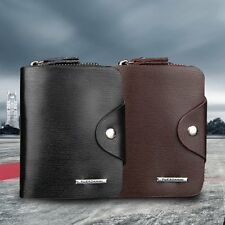 Multifunction Hasp Open Wallet Men PU Leather Men Wallets Purse Short YK