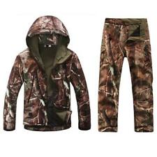 Mens Military Tactical Jacket Soft Shell Waterproof Hunting Hooded Coat Outwears