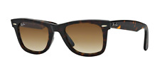 Ray-Ban Wayfarer RB2140 902/51 TORTOISE Brown Gradient Sunglasses (Authentic)