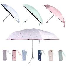 Mini Rain Sun Folding Compact Umbrella Travel Pocket Umbrella