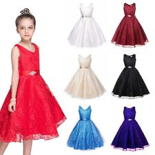 Baby Girl Bridesmaid Dress Christening Tutu Kid Party Party Pageant Formal Dress