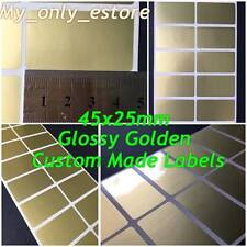 Large 45x25mm Glossy Gold Custom Made Stickers/Labels, Address Return Waterproof
