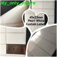 Large 45x25mm Pearl White Custom Made Stickers/Labels, Address Return Waterproof