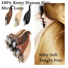 18inch Micro Ring Loop Beads Tipped 100% Remy Real Human Hair Extensions 100S