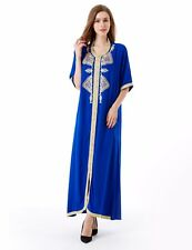 Women's Maxi Long sleeve long Dress moroccan Kaftan Caftan Jilbab Islamic aba...