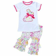 Unique Baby Girls Paisley Easter Bunny Easter Outfit Outfit