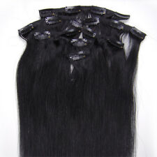 """22"""" 80grams Full Head Clip in 100% Indian Premier Remy 5A Human Hair Extensions"""
