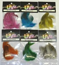 SPIRIT RIVER UV2 TEAL FLANK FEATHERS FOR FLY and JIG TYING YOU PICK COLOR