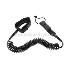 Surfboard Leash 10ft / 12ft Coiled Leashes Stand UP Paddle Board Leash SUP Black