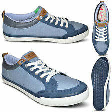New Mens Lace Up Plimsolls Sports Branded Trainers Pumps Shoes Size 7 8 9 10 11