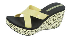 Ipanema Cruise Wedge Womens Flip Flops / Sandals - Yellow Black 81570 See Sizes