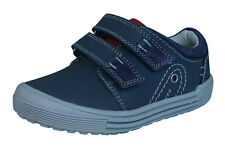 Hush Puppies Issac Boys Leather Sneakers / Shoes - Navy Blue