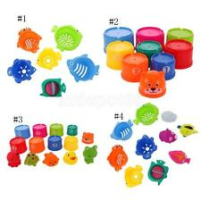 Baby Folding Cups Stacking Educational Numbers Animal Shapes Bathing Toys