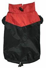 Doggy Dolly✨Small Dog Puppy Raincoat Waterproof Outdoor Jacket Coat Red & Black