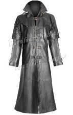 Genuine Cowhide Leather Gothic Steampunk Van Helsing-Inspired Trench Coat #571