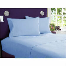 """1000 TC Sky Blue Solid-Bedding Sheets Collection 100%Egyptian Cotton All Sizes"""""""