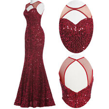 Formal Evening Dress Mermaid Gown Bridesmaid Party Prom Ball Wedding Dresses ☇