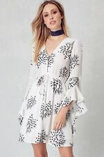 Promesa USA Off White Floral Print Ruffle 3/4 Sleeve Dress. Style PMD5030