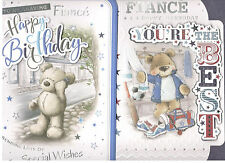 Fiance Birthday Card Various Designs Available. Larger Card.
