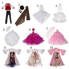 New Handmade Cloth/Lace Fashion Doll Clothes Dress Outfit for Barbie Doll ACCS