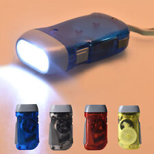Wind up Hand Pressing Crank Emergency Camping LED Flashlight Torch