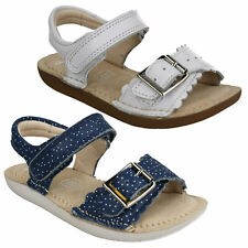 IVY BLOSSOM INFANT GIRLS CLARKS LEATHER RIPTAPE BUCKLE CASUAL SANDALS SIZE