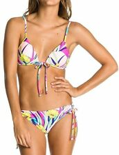 Roxy Boost Tie Bra 70S Lowrider Tie Side Bikini in Island Dreams