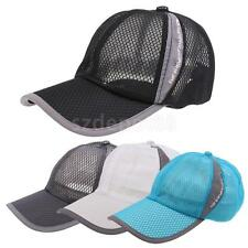 Unisex Men/Women Mesh Peak Cap Baseball Cap Outdoor Sports Golf Hats Sun Visor