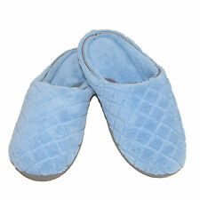 New Dearfoams Women's Quilted Microfiber Terry Clog Slipper