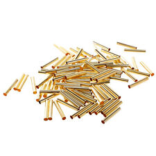 100 Pieces Silver/Gold Plated Smooth Straight Tube Spacer Beads Jewelry Making