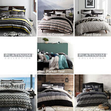 PLATINUM LOGAN AND MASON Doona Quilt Cover Set Single Double Queen King AW17