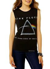 Pink Floyd Dark Side of the Moon rock Girls Muscle Tank Top T-Shirt L Last NWT