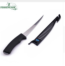 Stainless Steel Blade Fillet Fish Knife Fishing Camping Hunting Small Tool Sheat