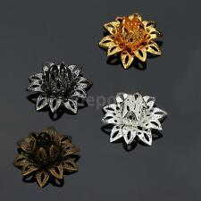 20 pcs Special Lotus Flower Shape 16mm Bead Caps for Jewelry Making