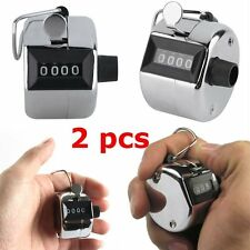 2PCS Sale High Quality Hand held Tally Counter 4 Digit Number Clicker Golf DS