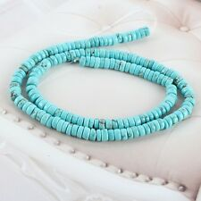 """Fashion Natural Blue Turquoise Gemstone Heishi Beads Spacer 16"""" 3mm - 12mm"""