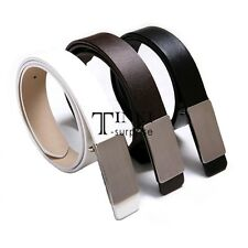 New Fashion Mens Boys Accessory Leather Belt Business Dress Casual Metal TXSU